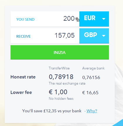transferwise - Screenshot